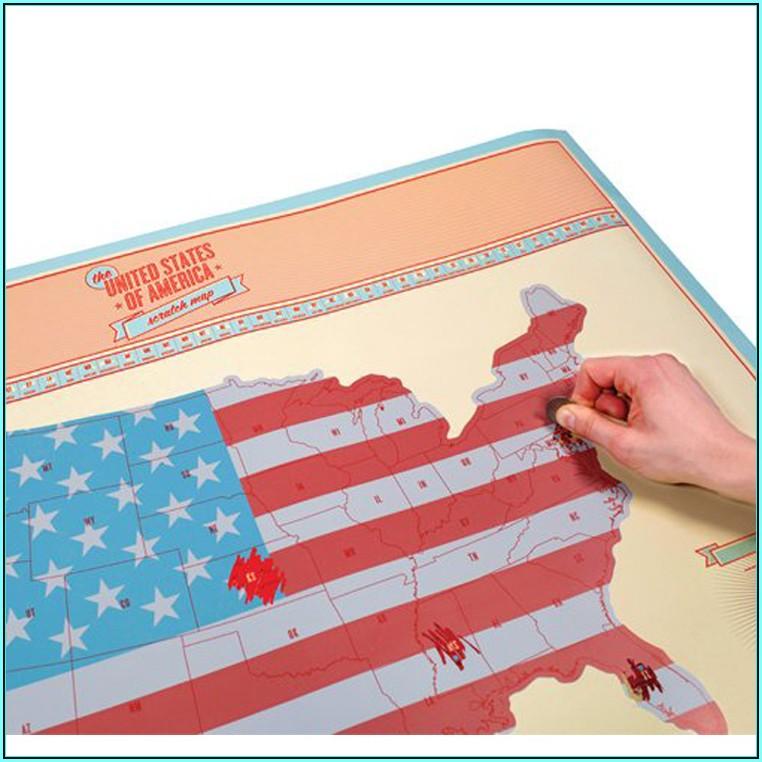 American States Scratch Map