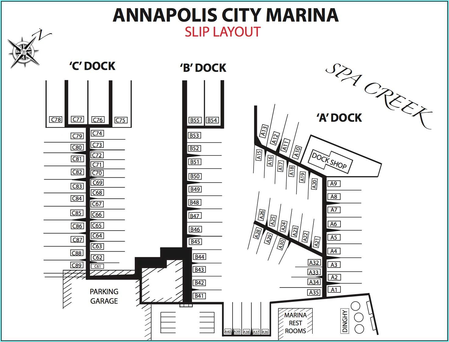 Annapolis Marinas Map