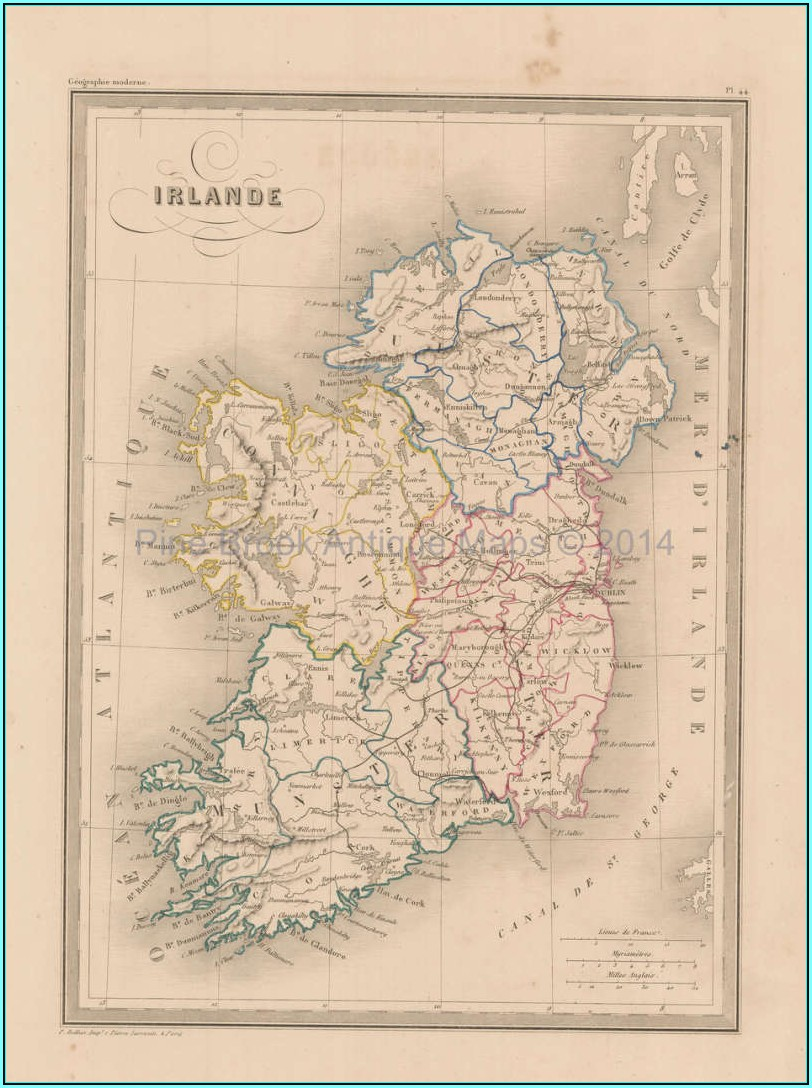 Antique Irish Maps For Sale