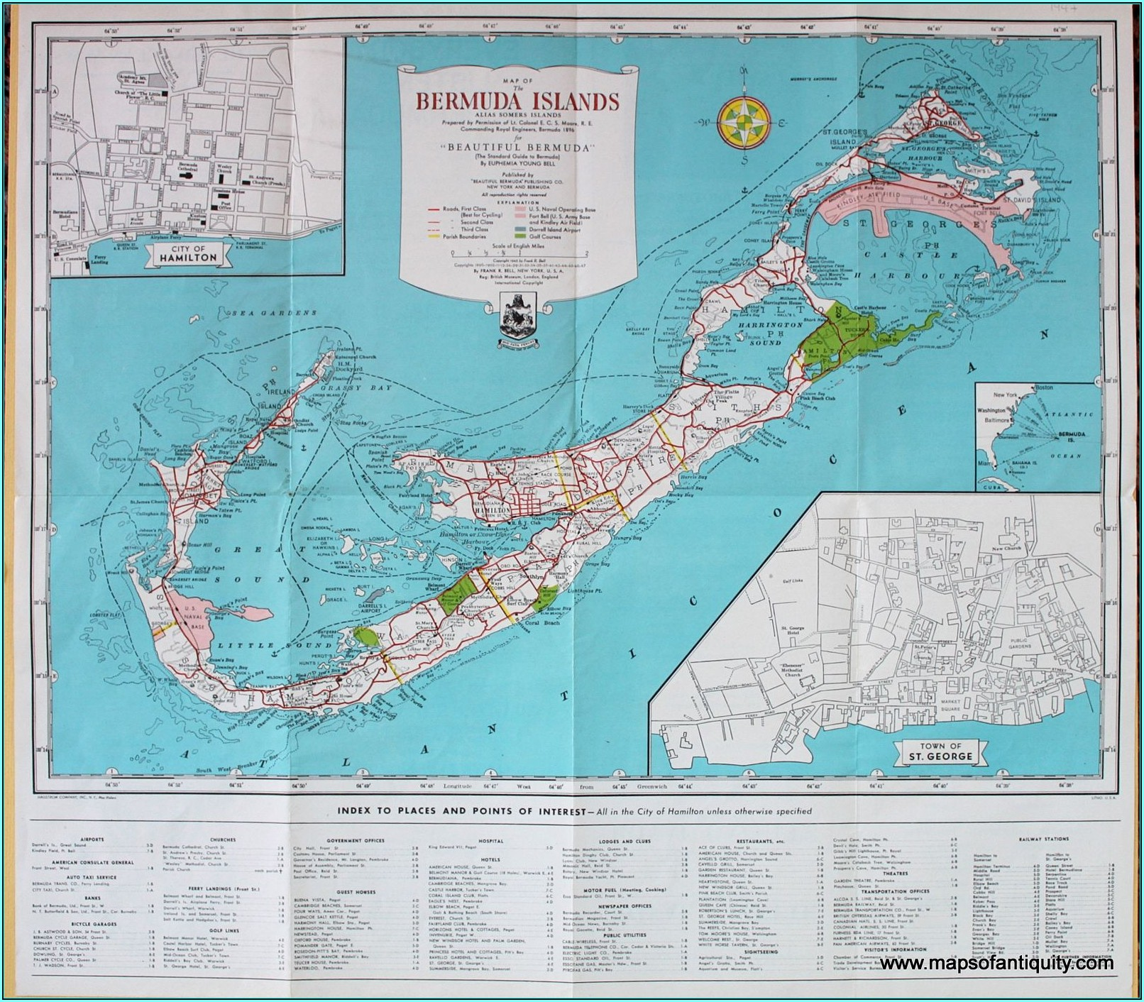 Antique Map Of Bermuda