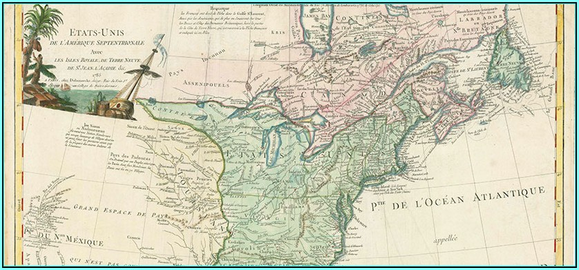 Antique Map Reproductions For Sale