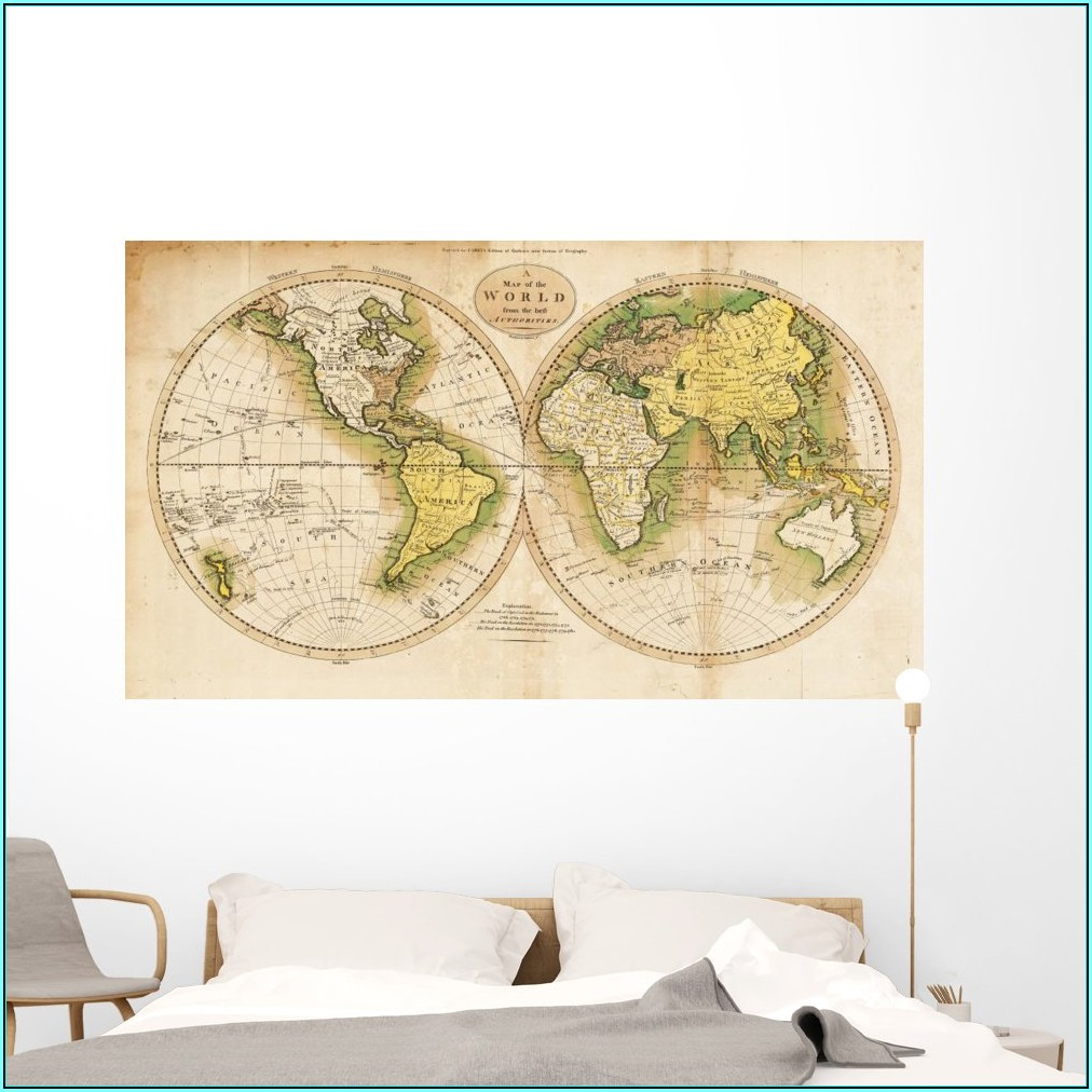 Antique Map Wall Mural
