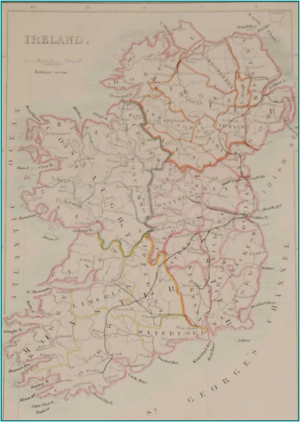 Antique Maps Of Ireland For Sale