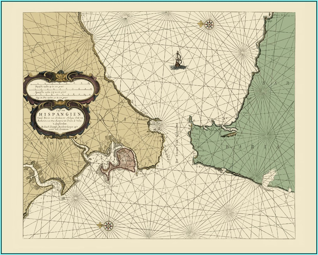 Antique Nautical Map Reproductions
