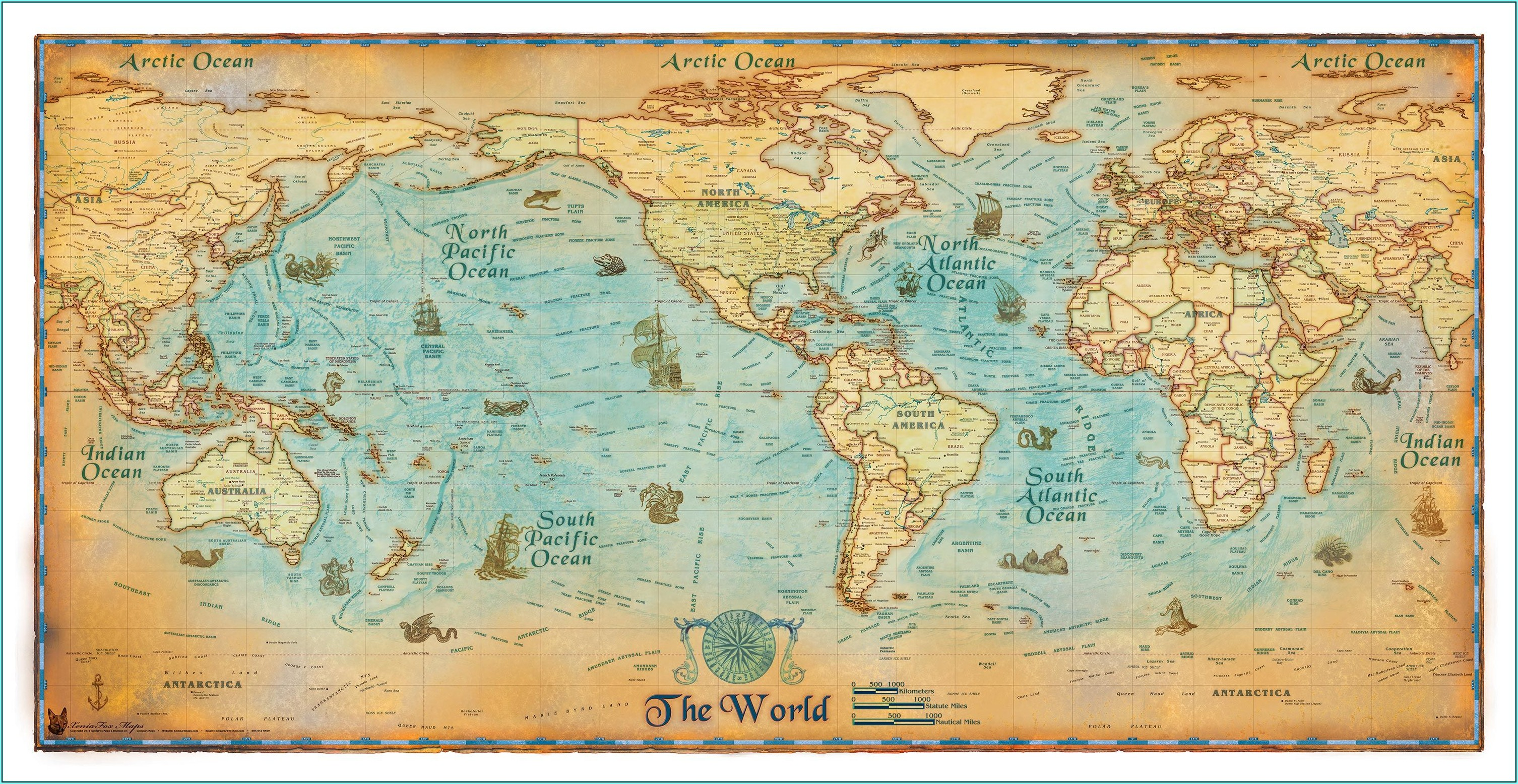 Antique Wall Maps