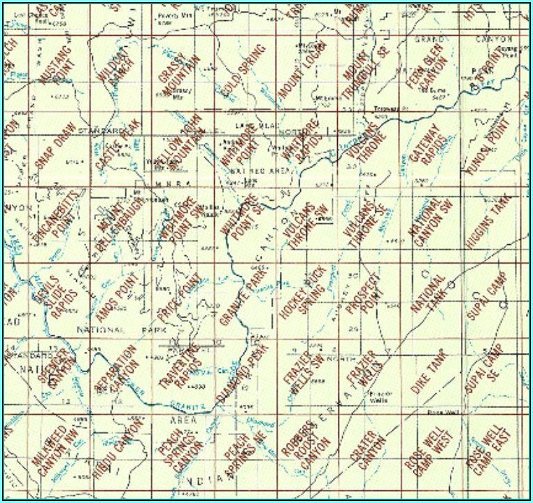 Arizona Topographic Map Index