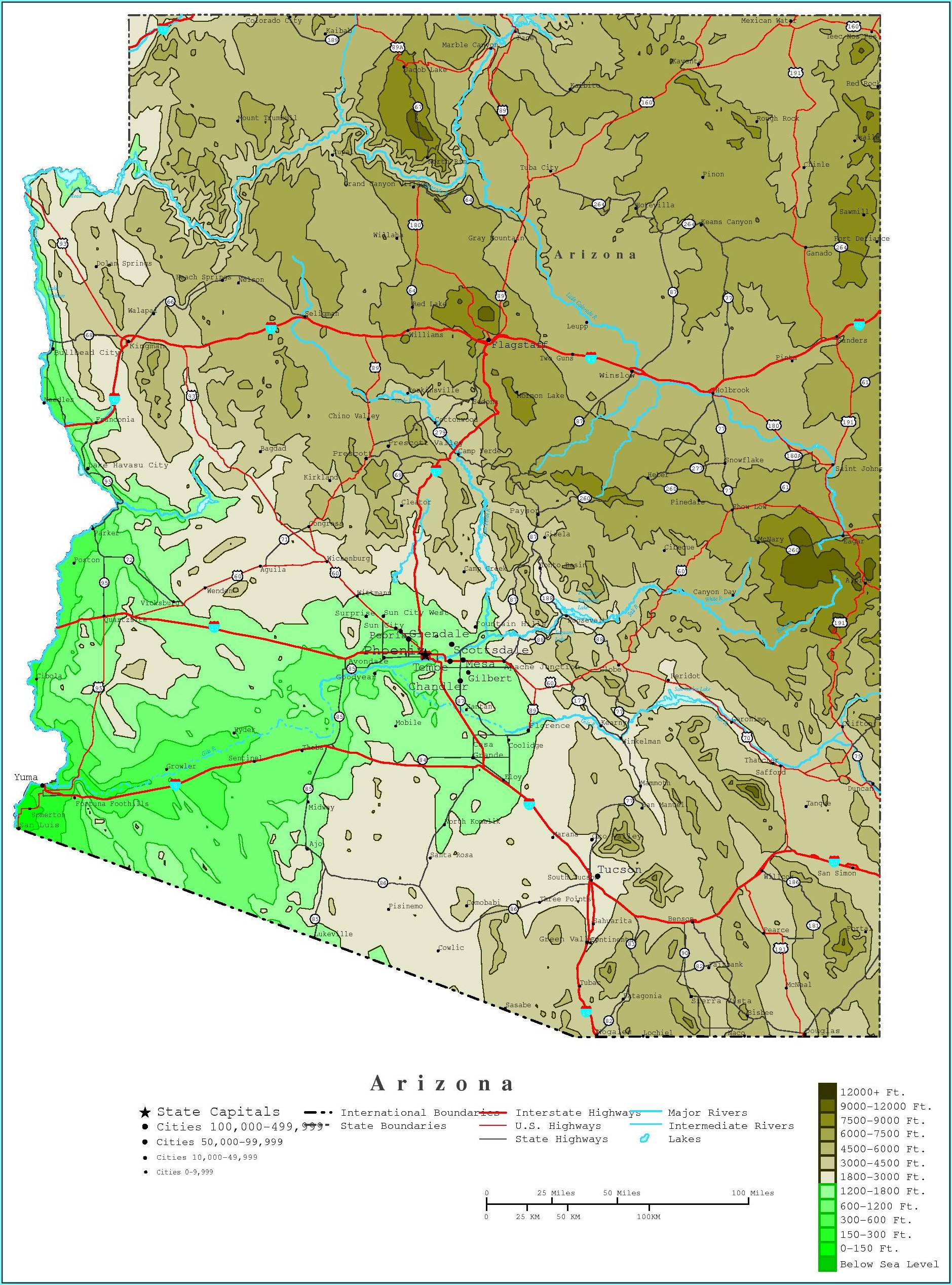 Arizona Topographic Maps Free