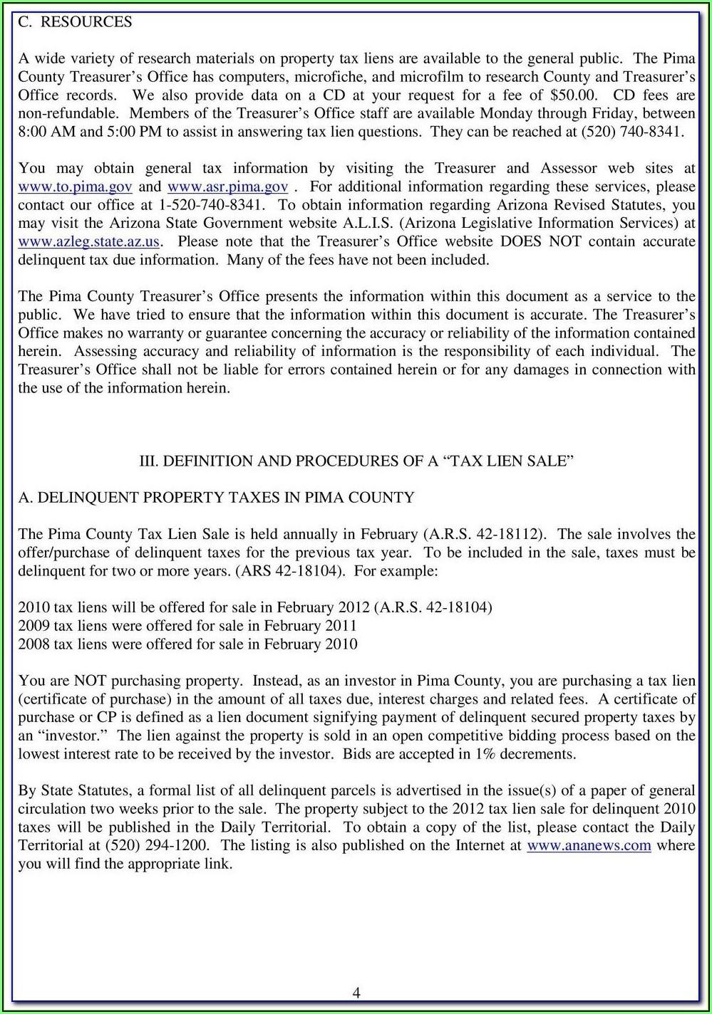 Az Divorce Forms Pima County