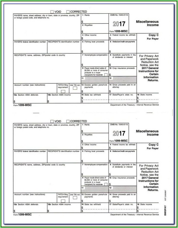 Blank 1099 Misc Tax Forms
