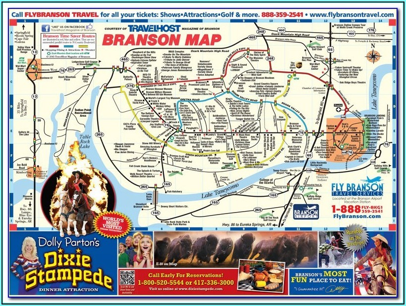 Branson Hotel And Attraction Map