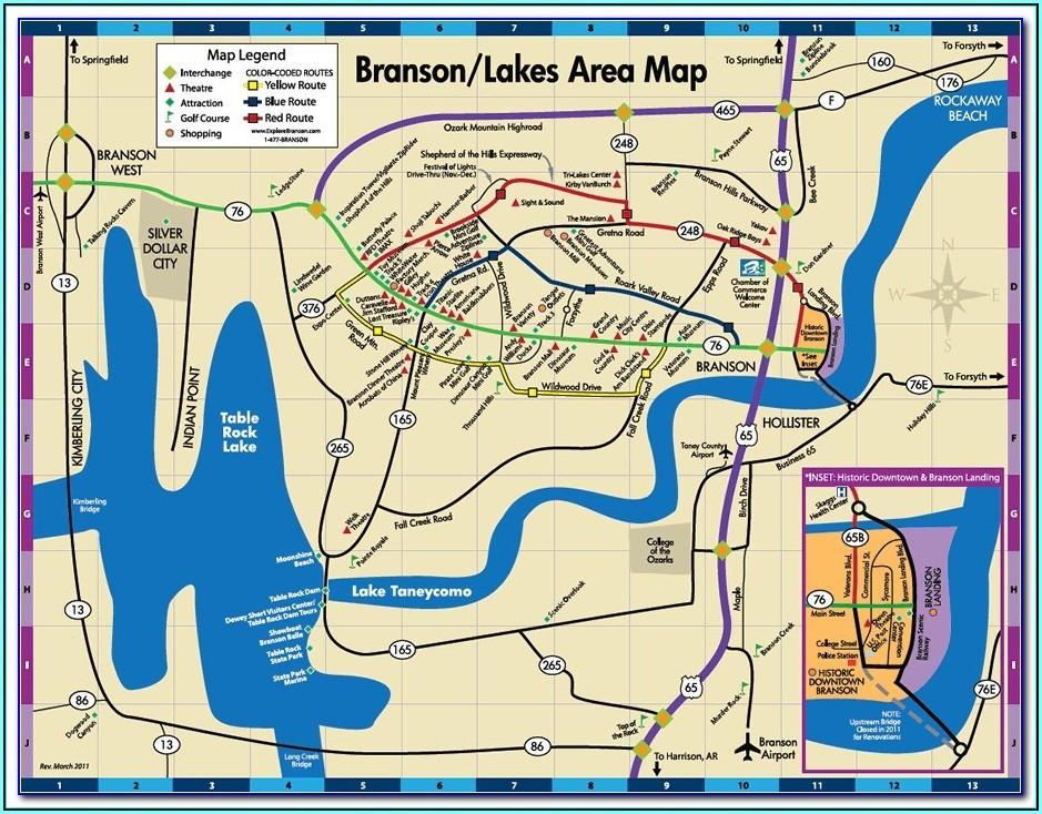 Branson Strip Hotel Map
