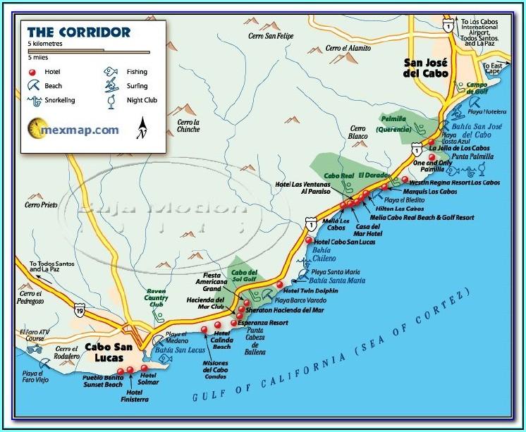 Cabo Medano Beach Hotel Map