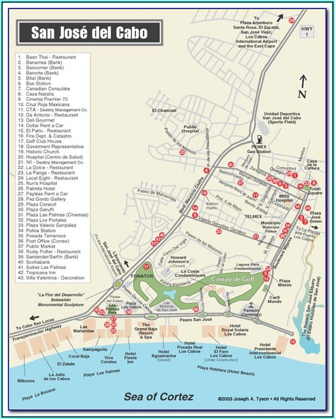 Cabo San Lucas Hotel Map Locations