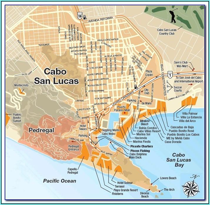 Cabo San Lucas Map Hotels Resorts
