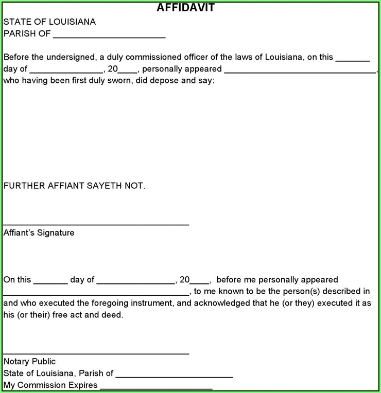 California Notary Forms Affidavit