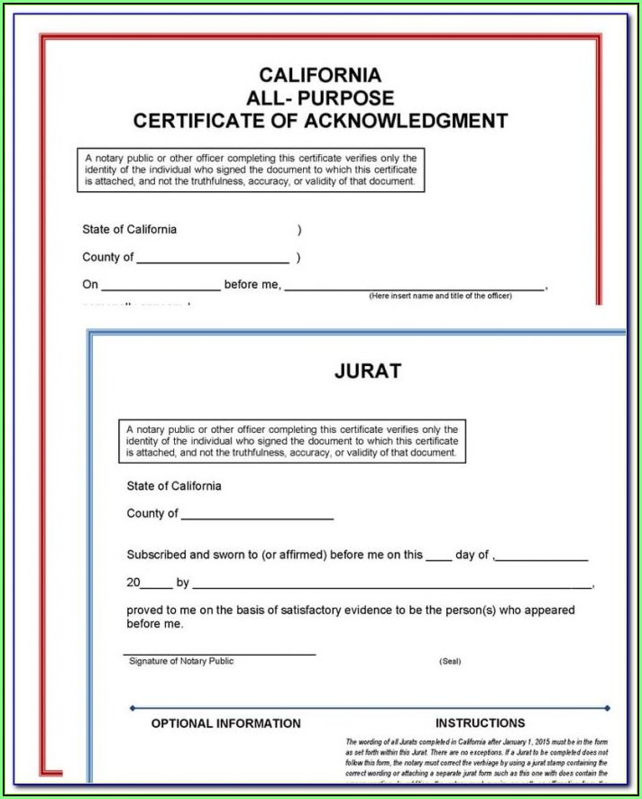 California Notary Forms