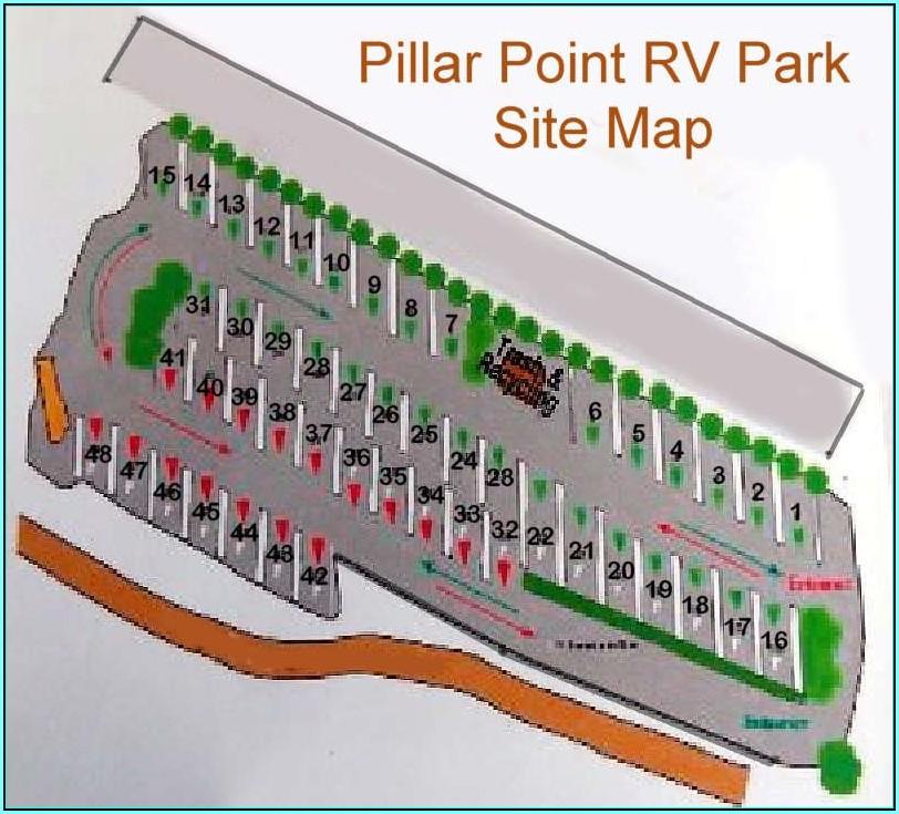 California Rv Park Map