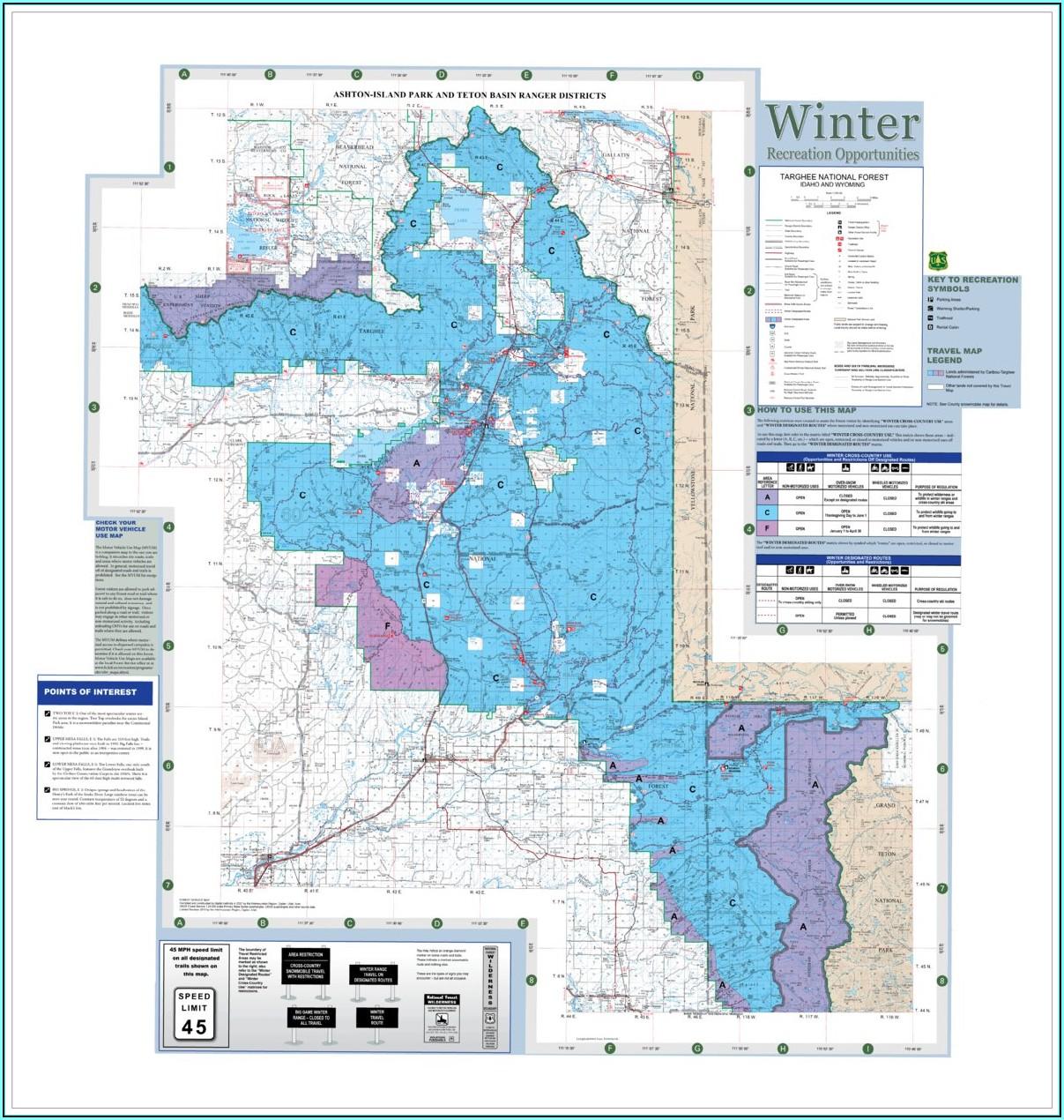 Caribou Targhee National Forest Map Pdf