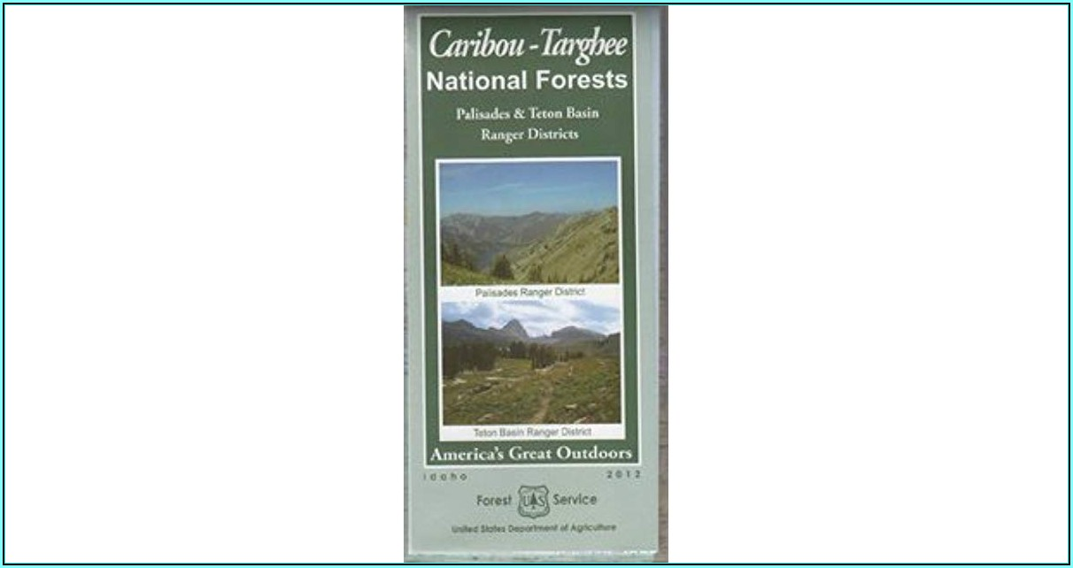 Caribou Targhee National Forest Map