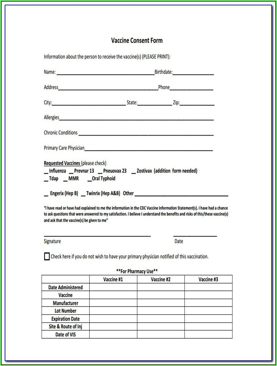 Cdc Prevnar Consent Form