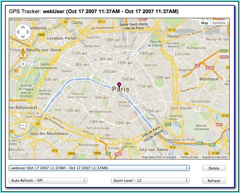 Cell Phone Tracker Map