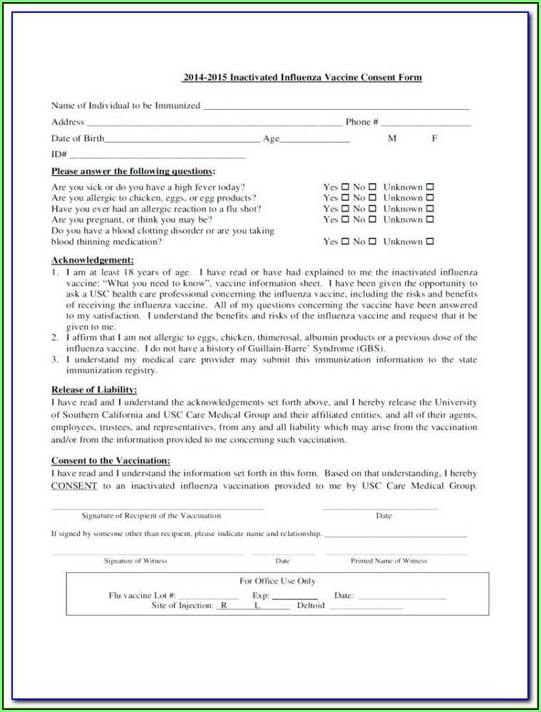 Chemical Peel Consent Form Template