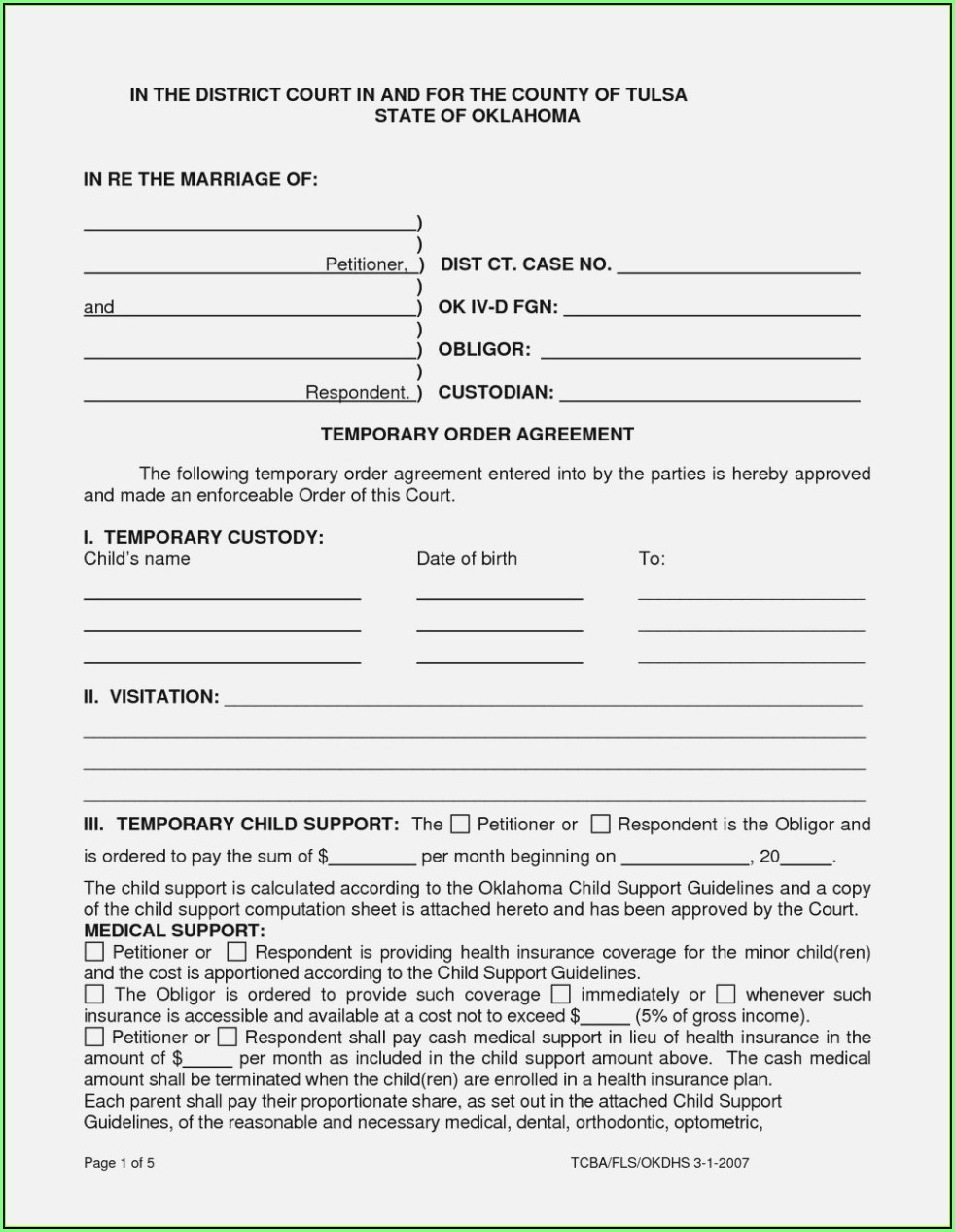 Child Guardianship Forms Indiana