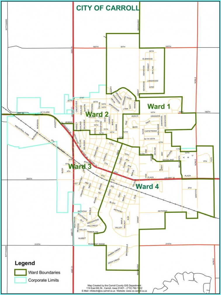 City Map Of Carroll Iowa