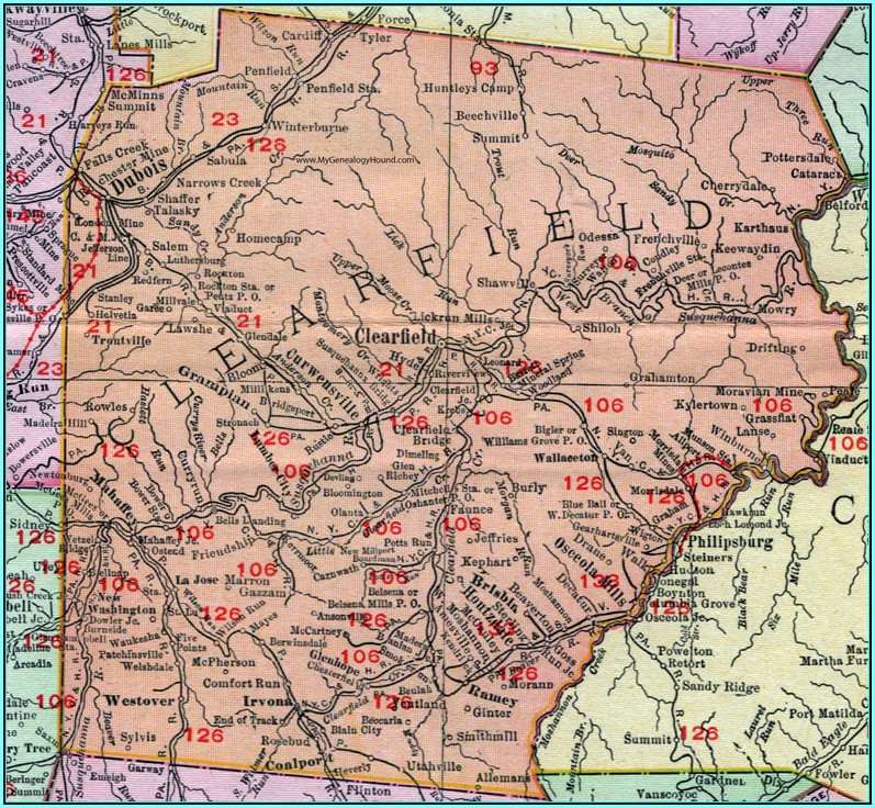 City Map Of Clearfield Pa