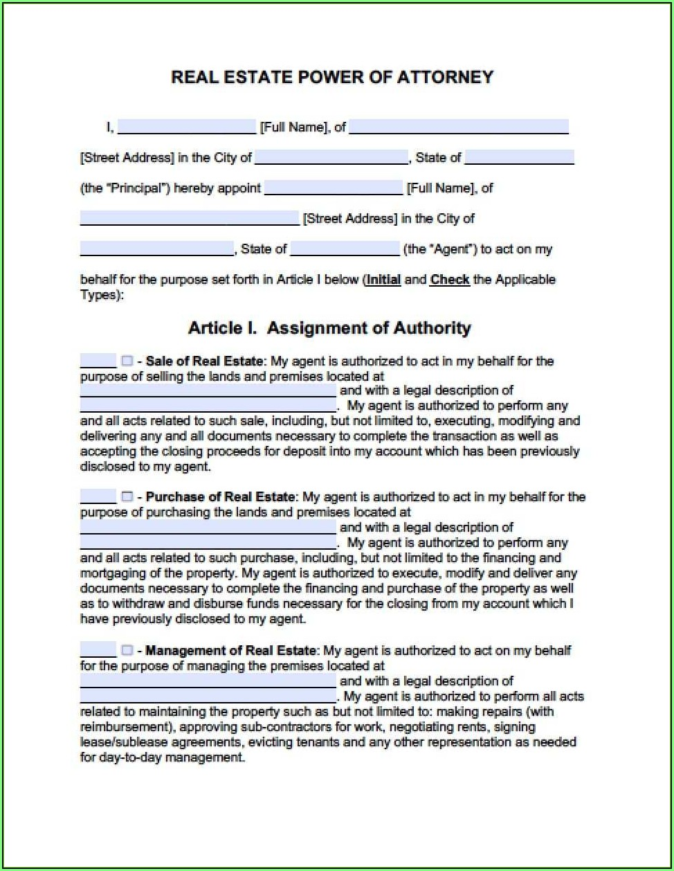 Colorado State Medical Power Of Attorney Form