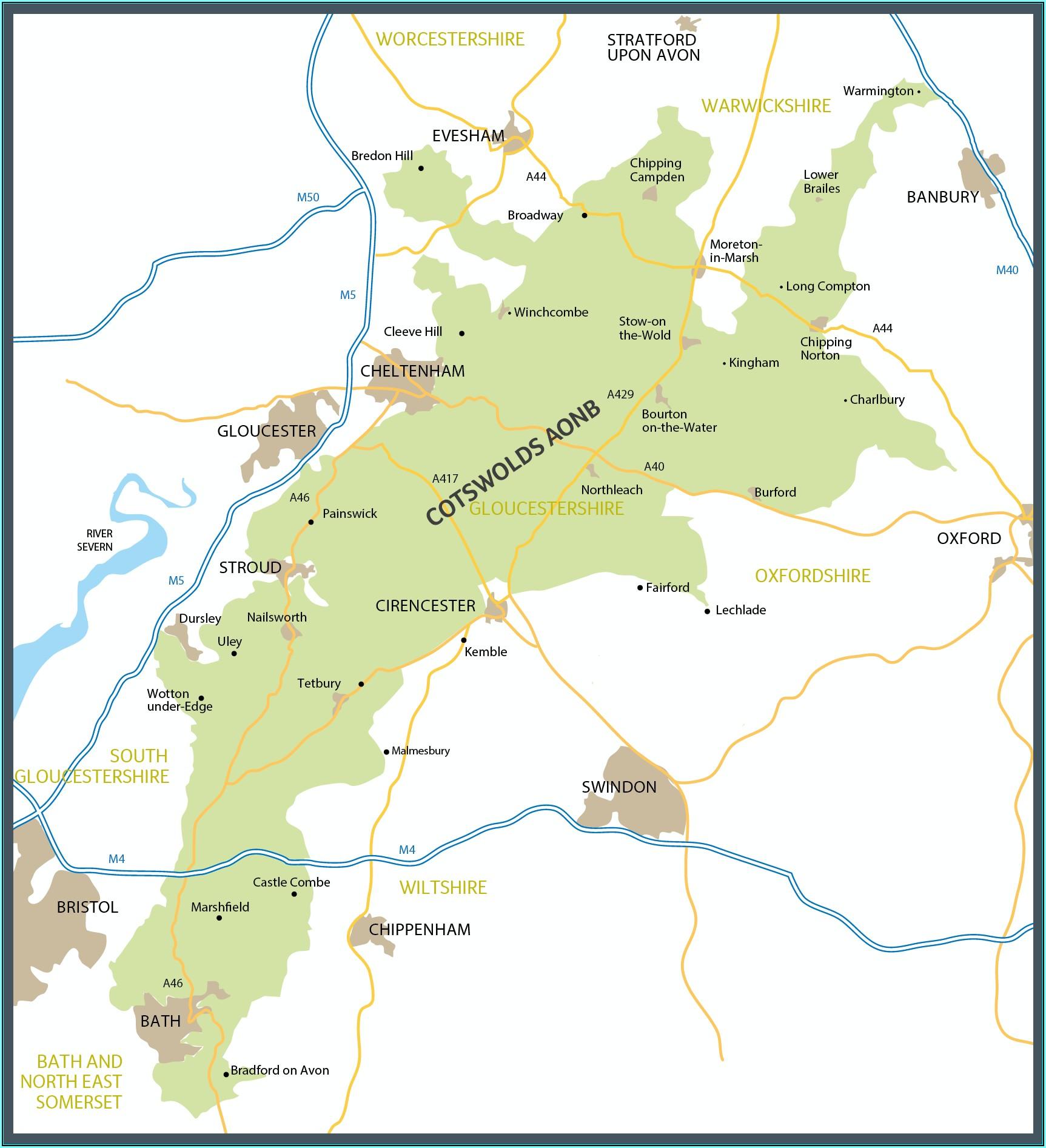Cotswolds Tourist Maps