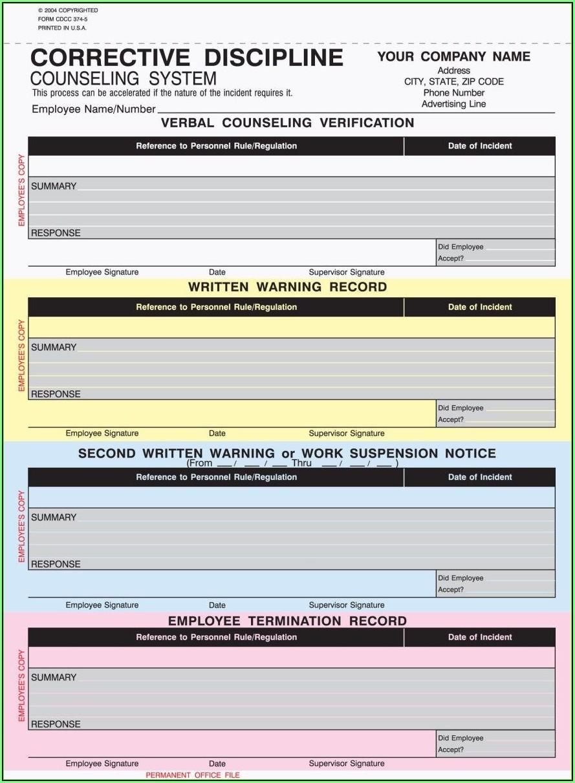 Daycare Discipline Forms