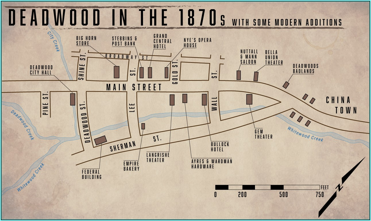 Deadwood Sd Hotel Map