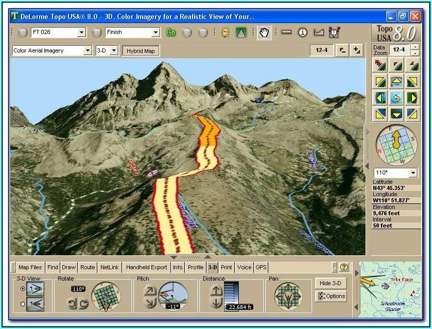 Delorme Topo Map Software