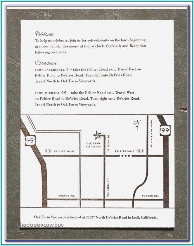 Design Map For Wedding Invitation