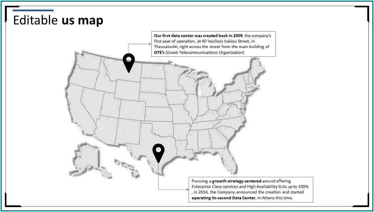 Editable Usa Map For Powerpoint