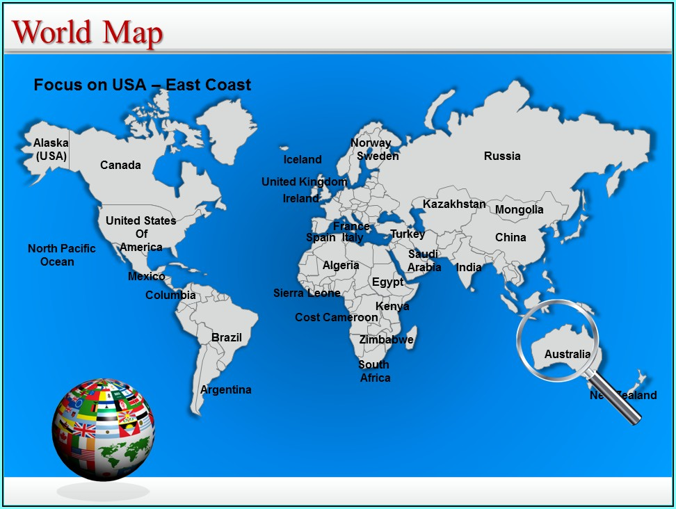 Editable World Map Powerpoint Template