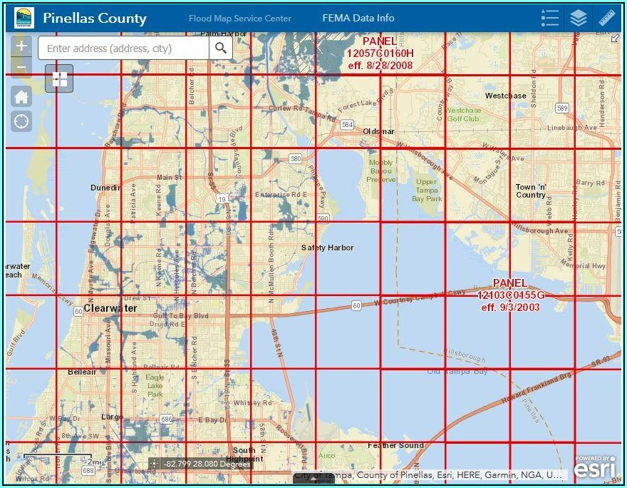 Flood Zone Map Florida Pinellas County