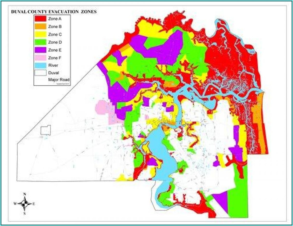 Flood Zone Map Jacksonville Florida