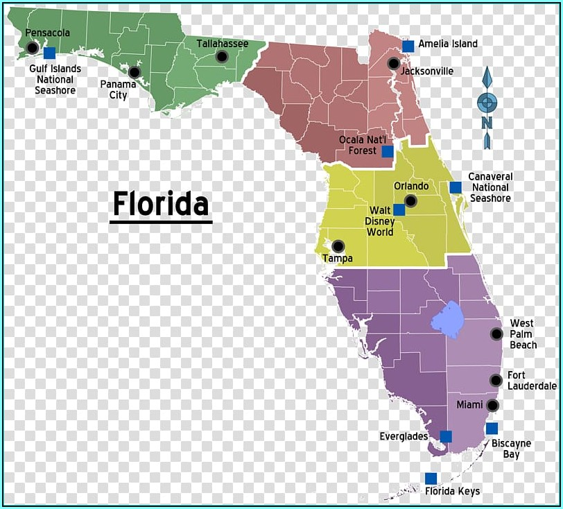 Florida Map Showing Destin Florida