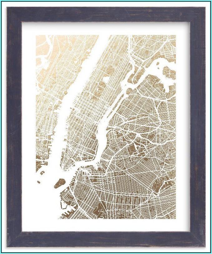 Foil Pressed City Maps