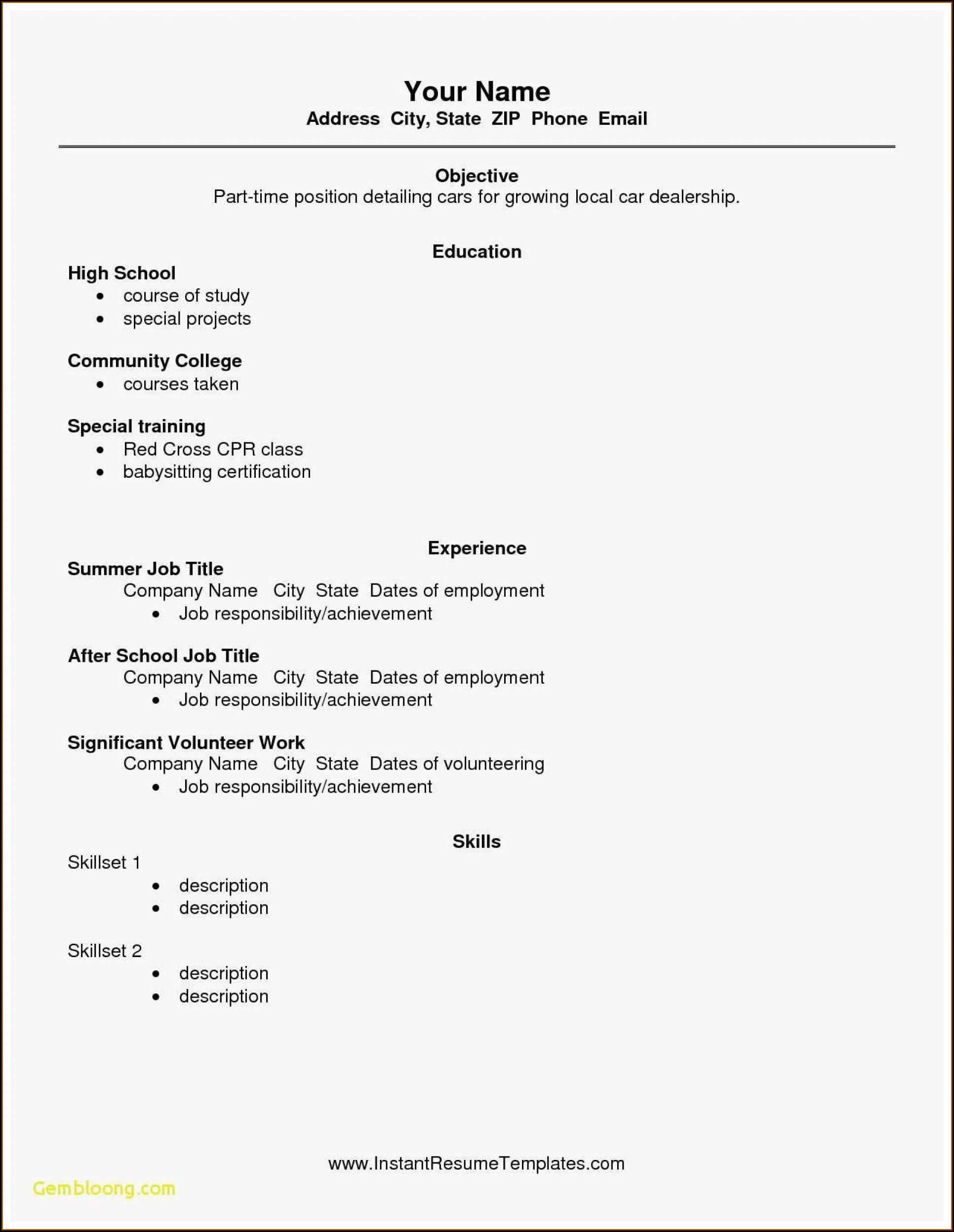 Free High School Graduate Resume Templates