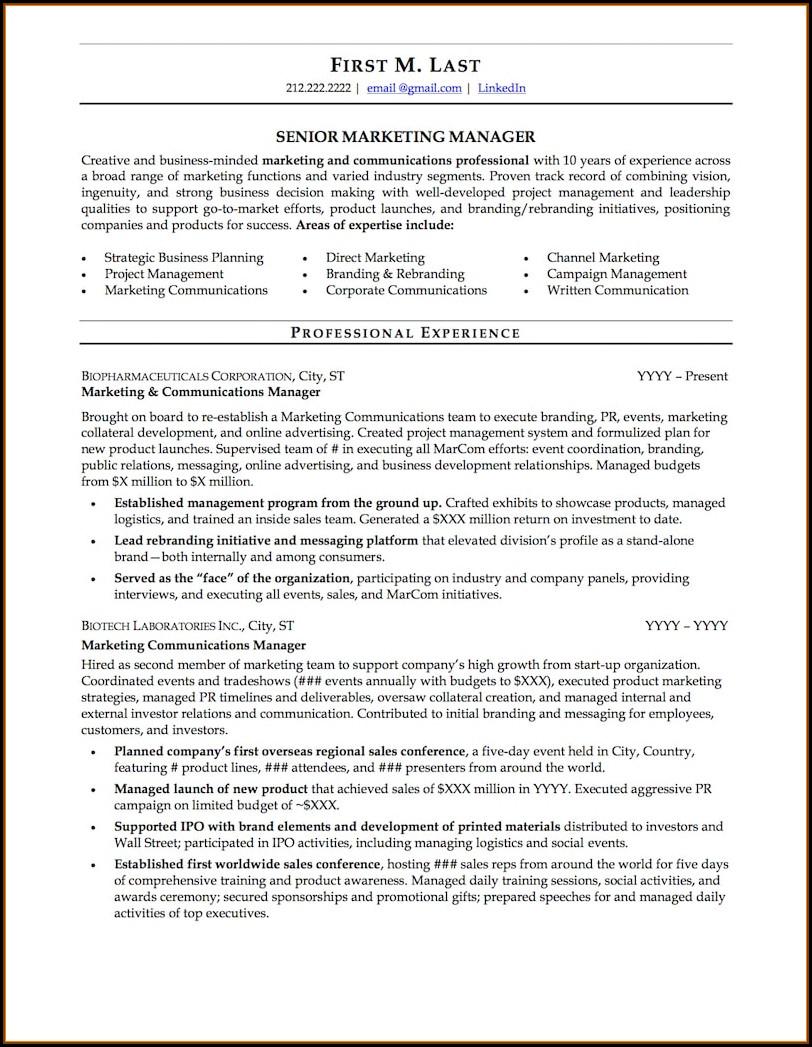Free Resume Samples Doc