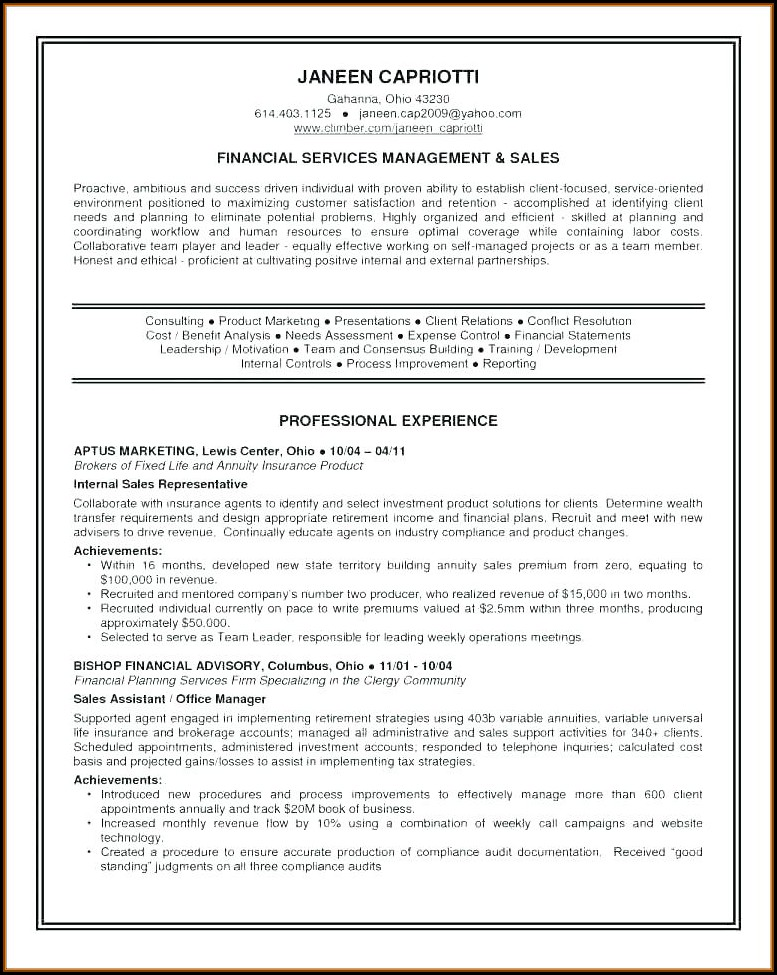 Free Sample Resume Template Download
