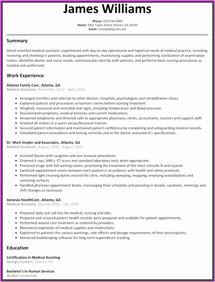 Free Word 2016 Resume Templates