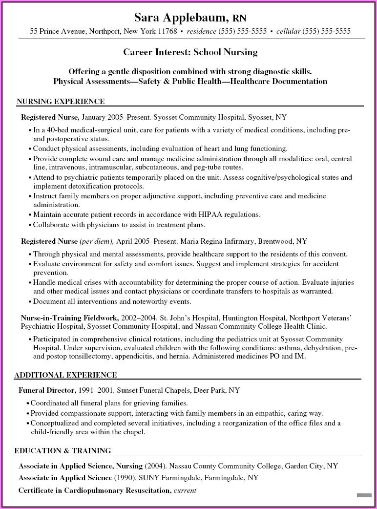 Good Resume Objectives For Registered Nurse