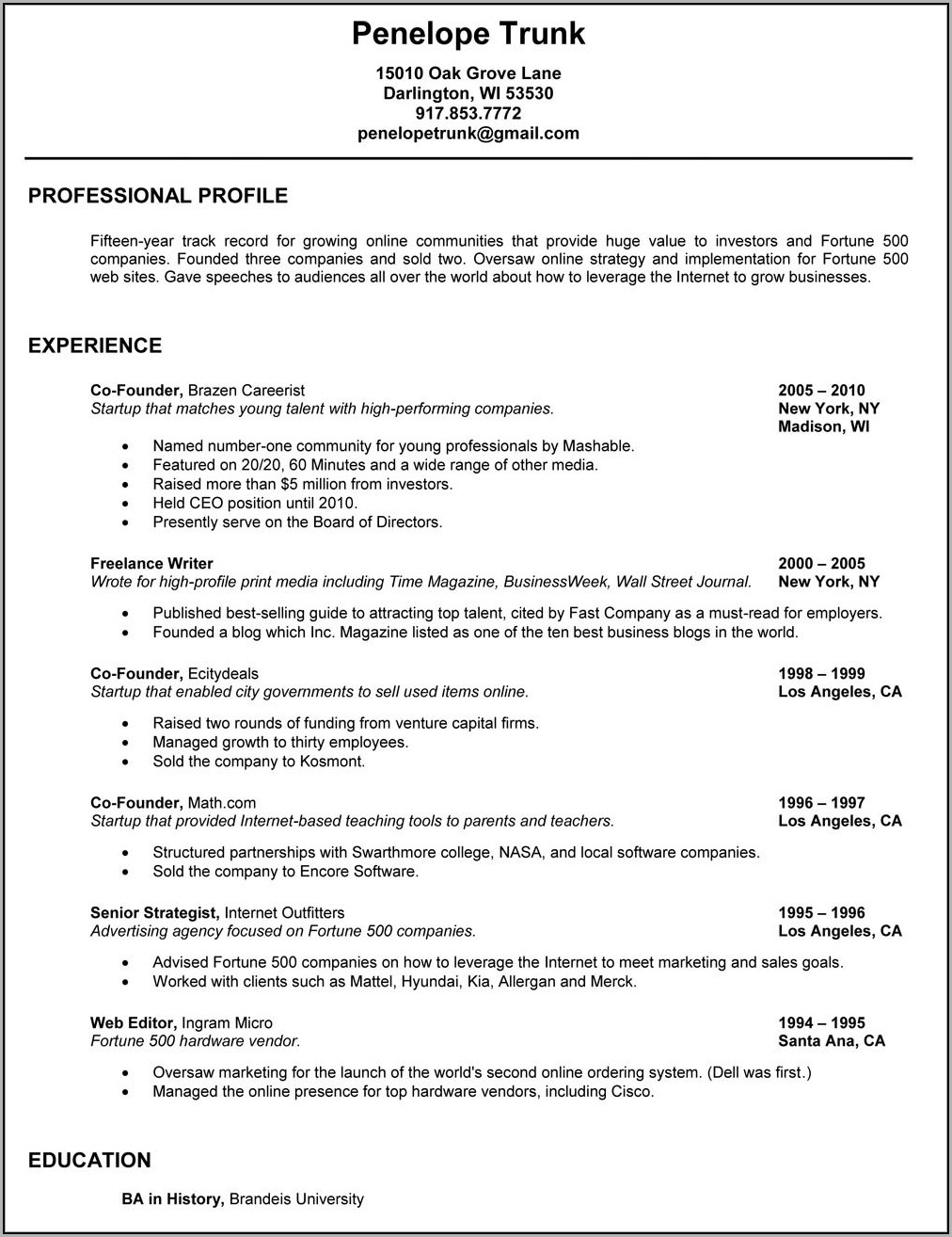 How To Write Up A Good Resume