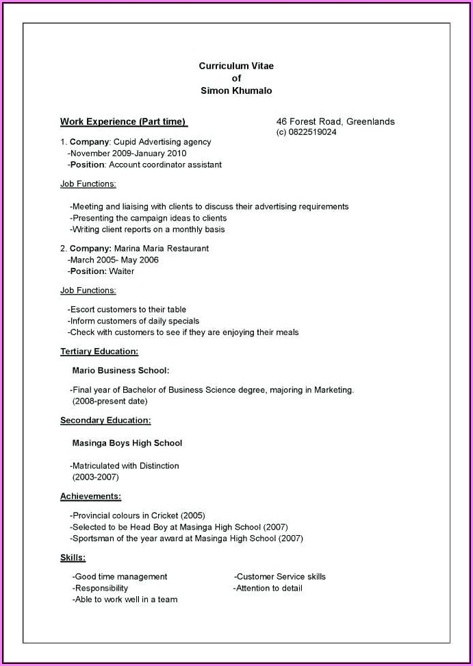 How To Write Up A Professional Resume