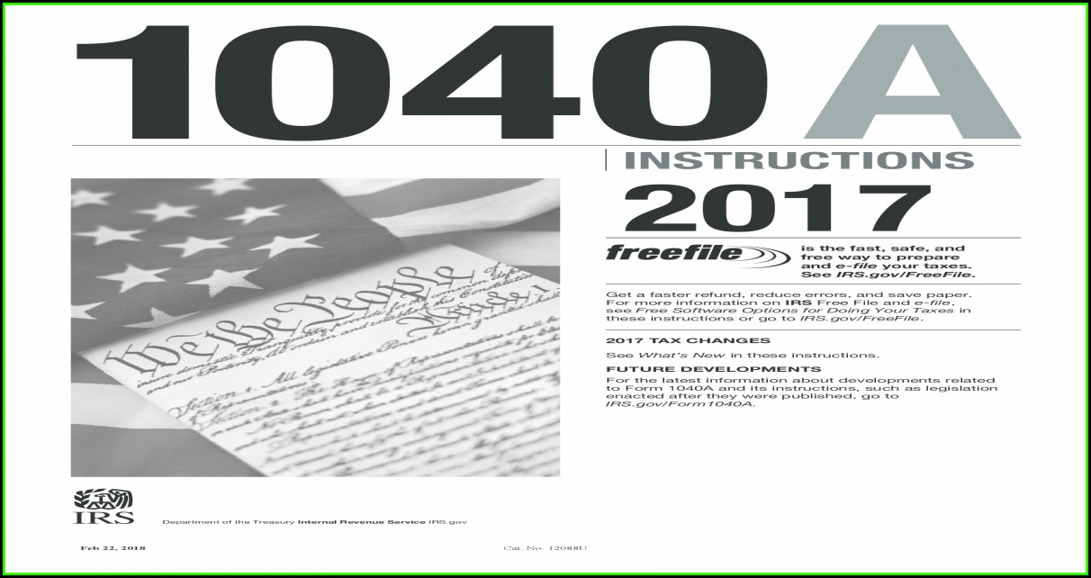 Irs.gov 2014 Tax Form 1040a