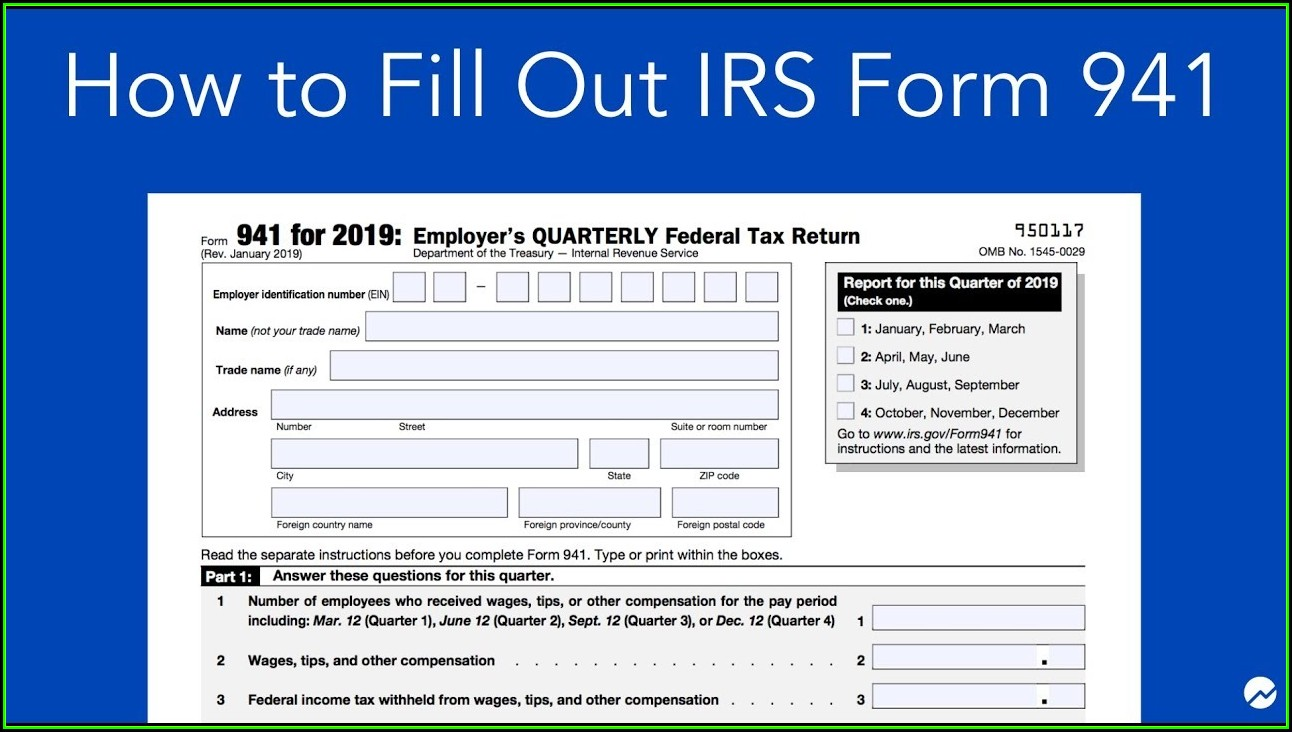 Irs.gov Form 941 For 2019